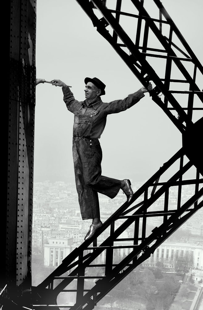 Copy of « LOOKING FOR THE MASTERS IN RICARDO'S GOLDEN SHOES #44 (TRIBUTE TO MARC RIBOUT, EIFFEL TOWER PAINTER, 1953) » BY CATHERINE BALET