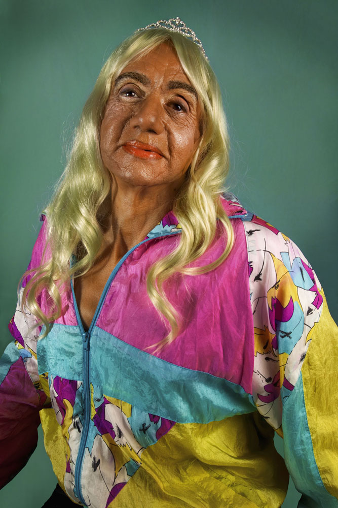 Copy of « LOOKING FOR THE MASTERS IN RICARDO'S GOLDEN SHOES #91 (TRIBUTE TO CINDY SHERMAN, UNTITLED # 397, 2000) » BY CATHERINE BALET