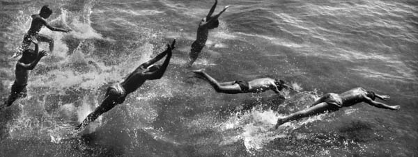 "Copy of ""BOYS DIVING INTO SURF"" BY HAROLD FEINSTEIN"