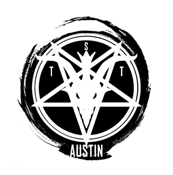 Logo for The Satanic Temple of Austin (ORIGINAL baphomet logo designed by TST)