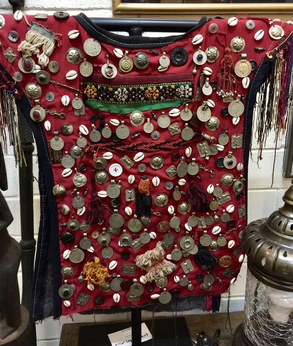 Turkmen Vest with Iron Stand