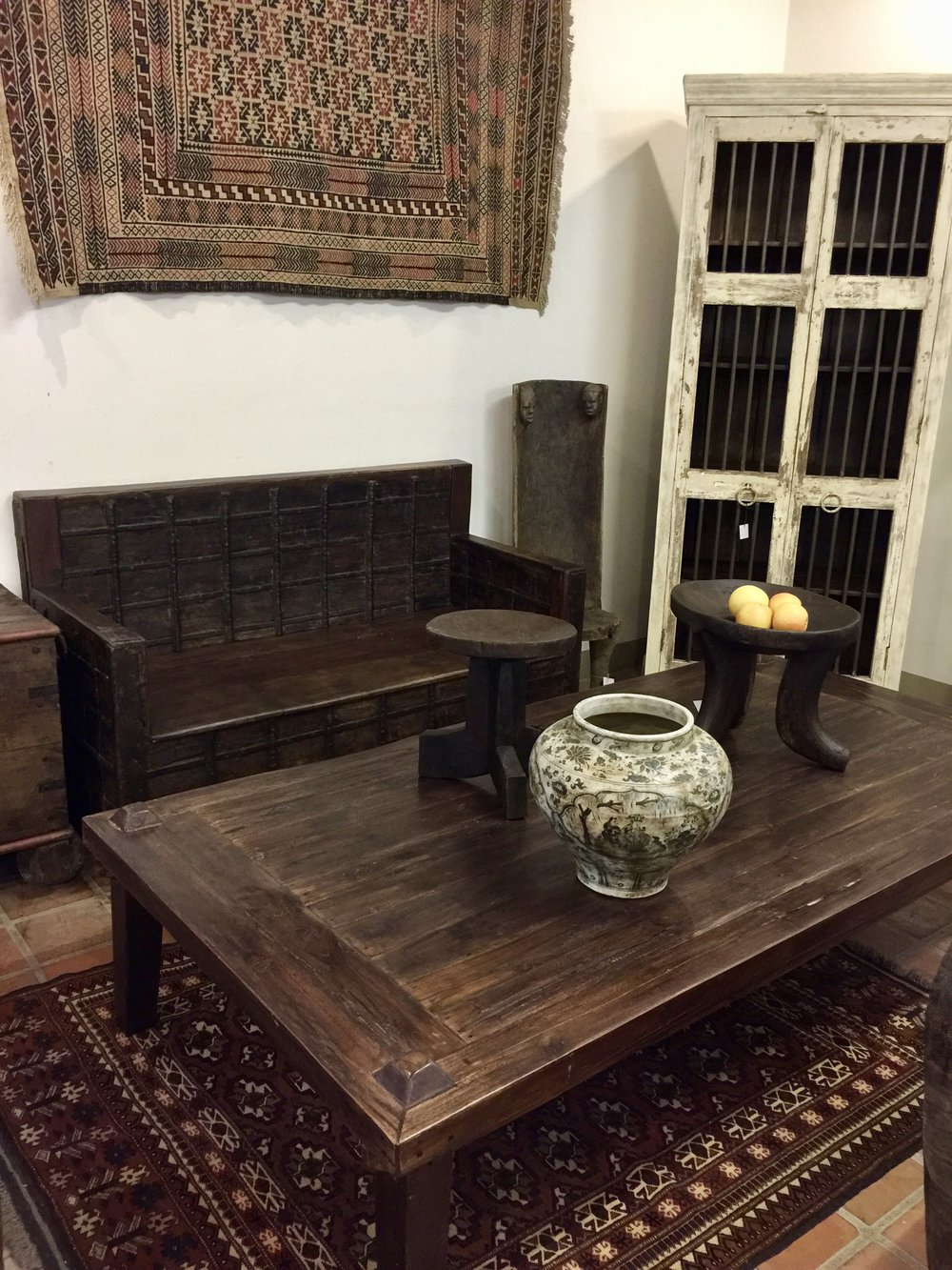 Gujarat Bench and Java Coffee Table