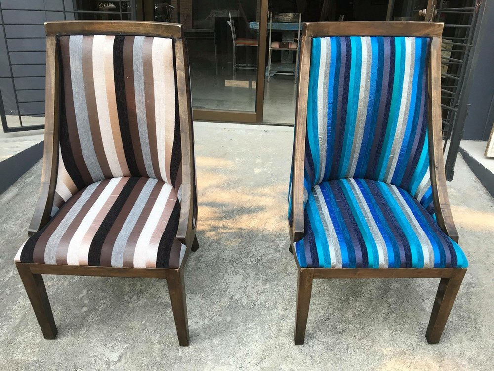 Annabel Chair Upholstered with Sabra Cloth
