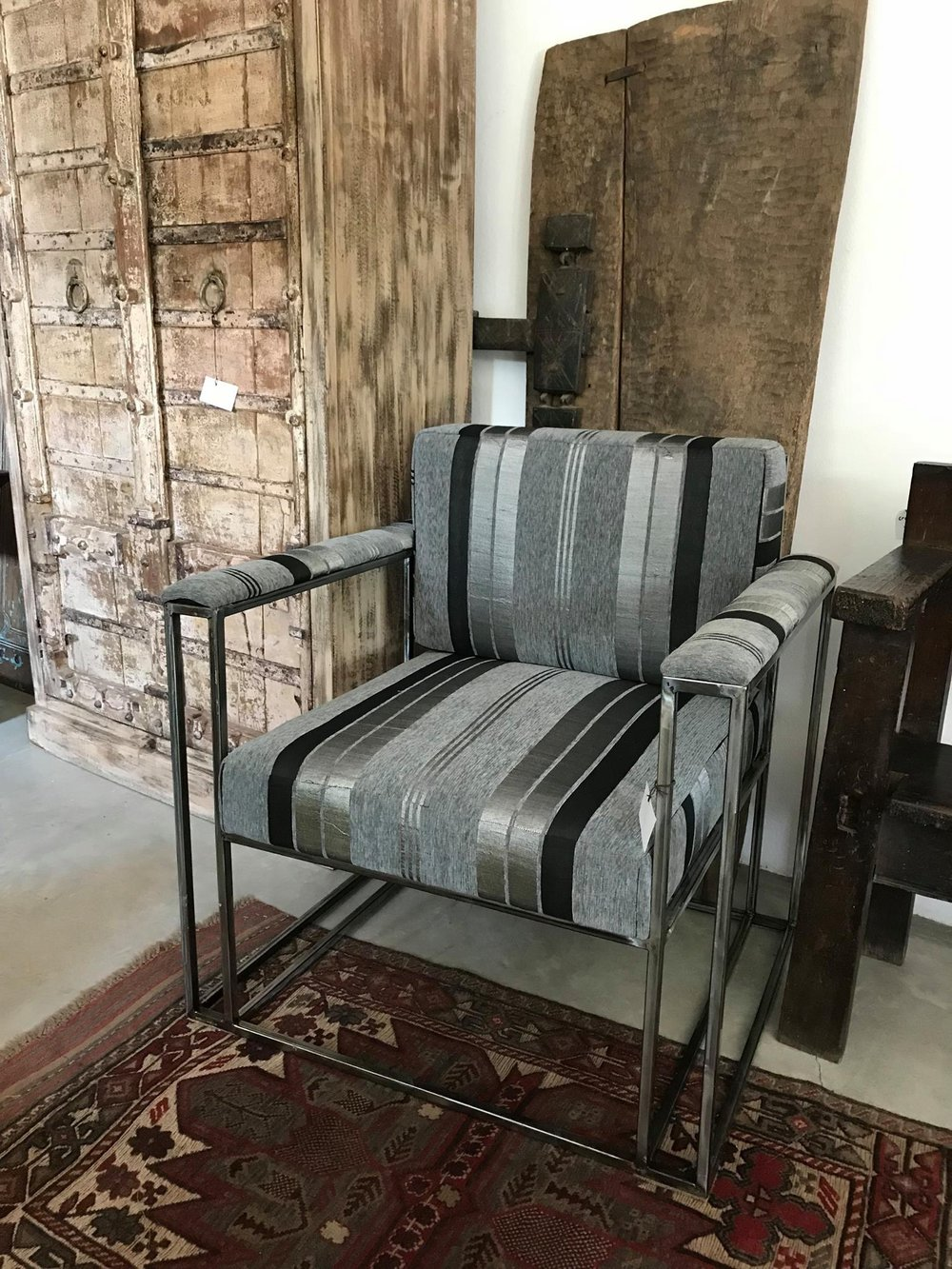 Ziggy Iron Chair Upholstered with Sabra Cloth
