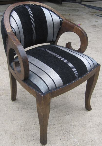 Betawi Chair Upholstered with Sabra Cloth