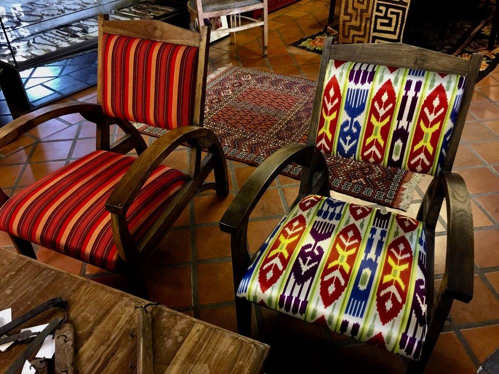 Titanic Chairs Sabra Cloth and Silk Suzeini