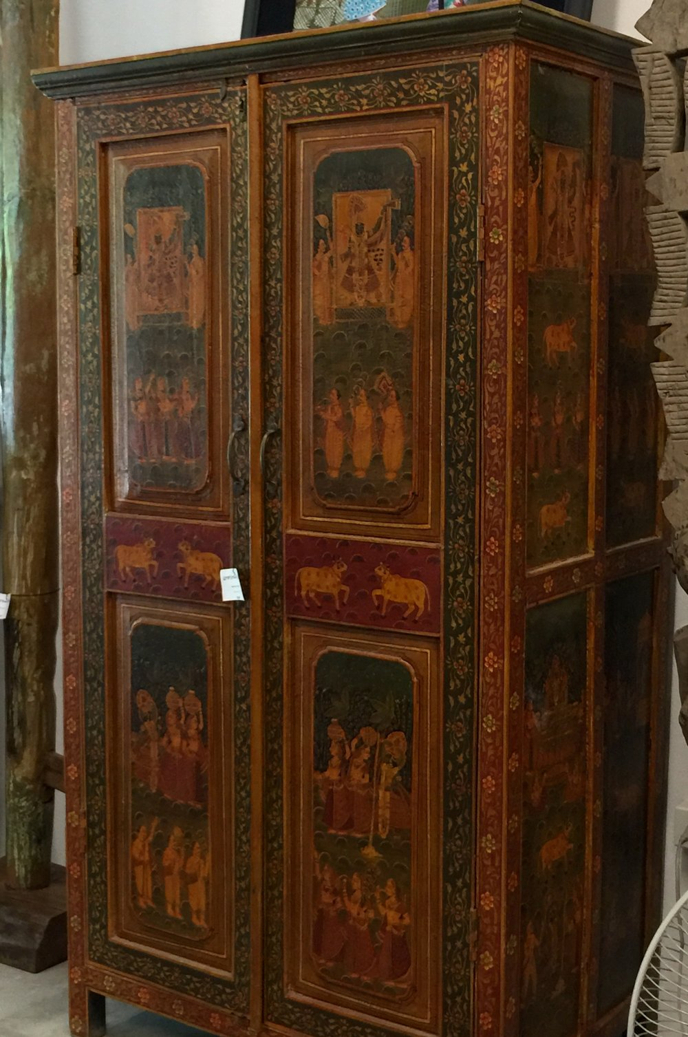 Rajathan Painted Cabinet