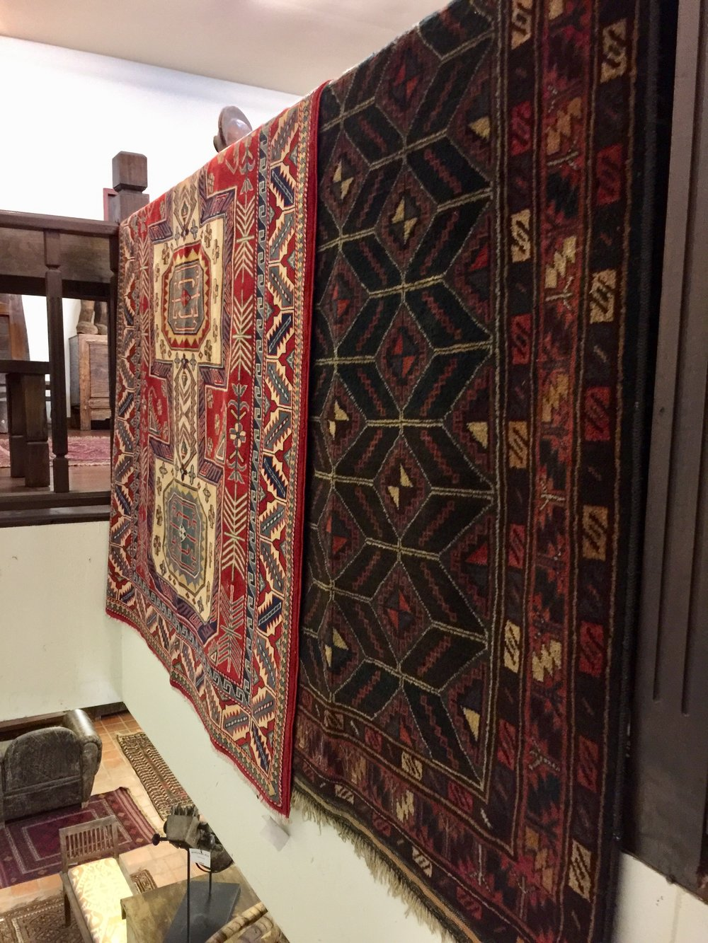 Shiraz and Kazakhstan Rugs