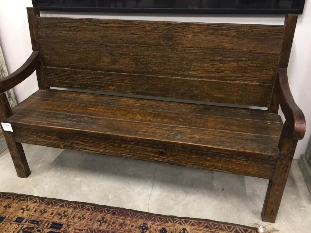 Cypress Wood Bench