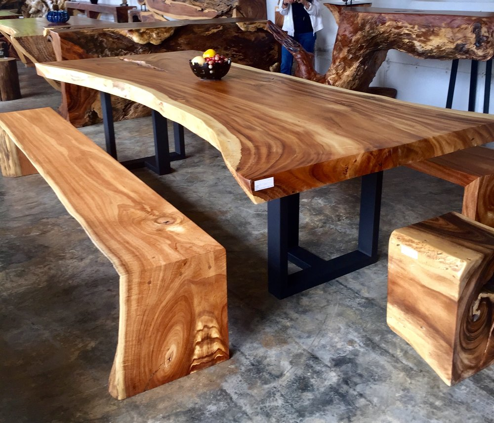 Sea Almond Lacquered Bench