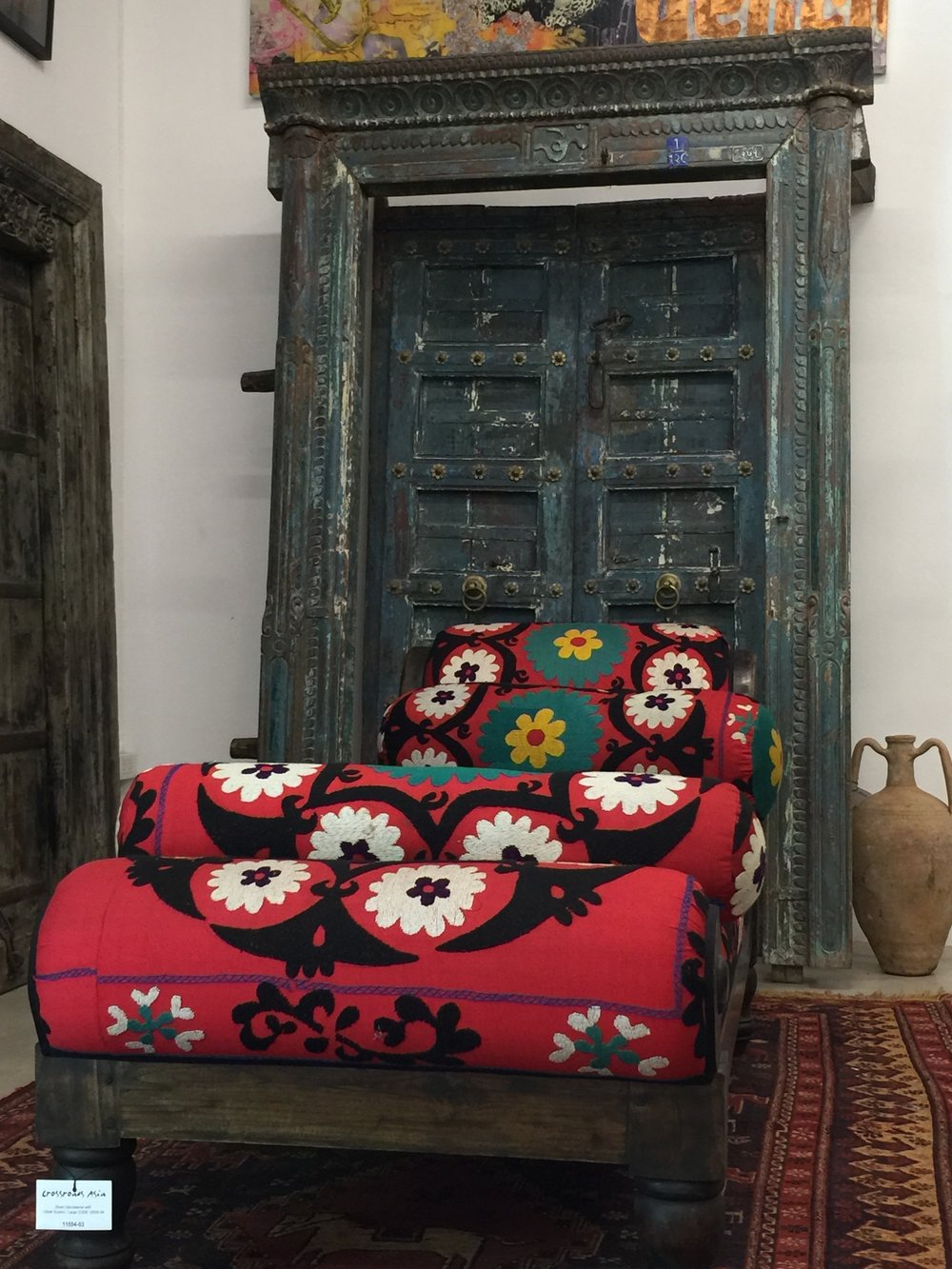 Divan Upholstered with Uzbek-Suzeini