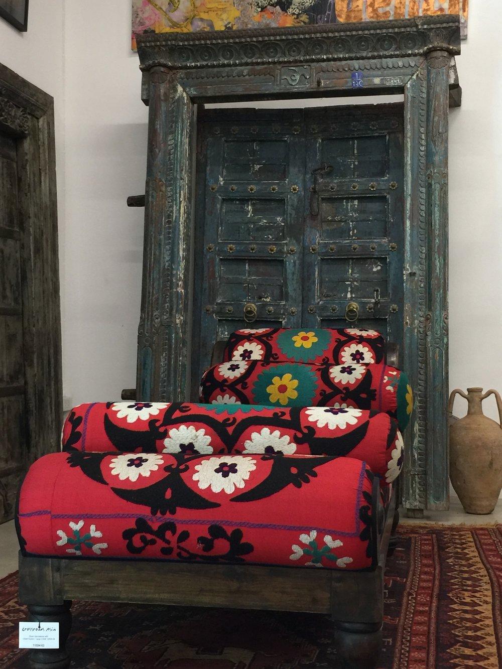 Divan Upholstered with Uzbek-Suzeini