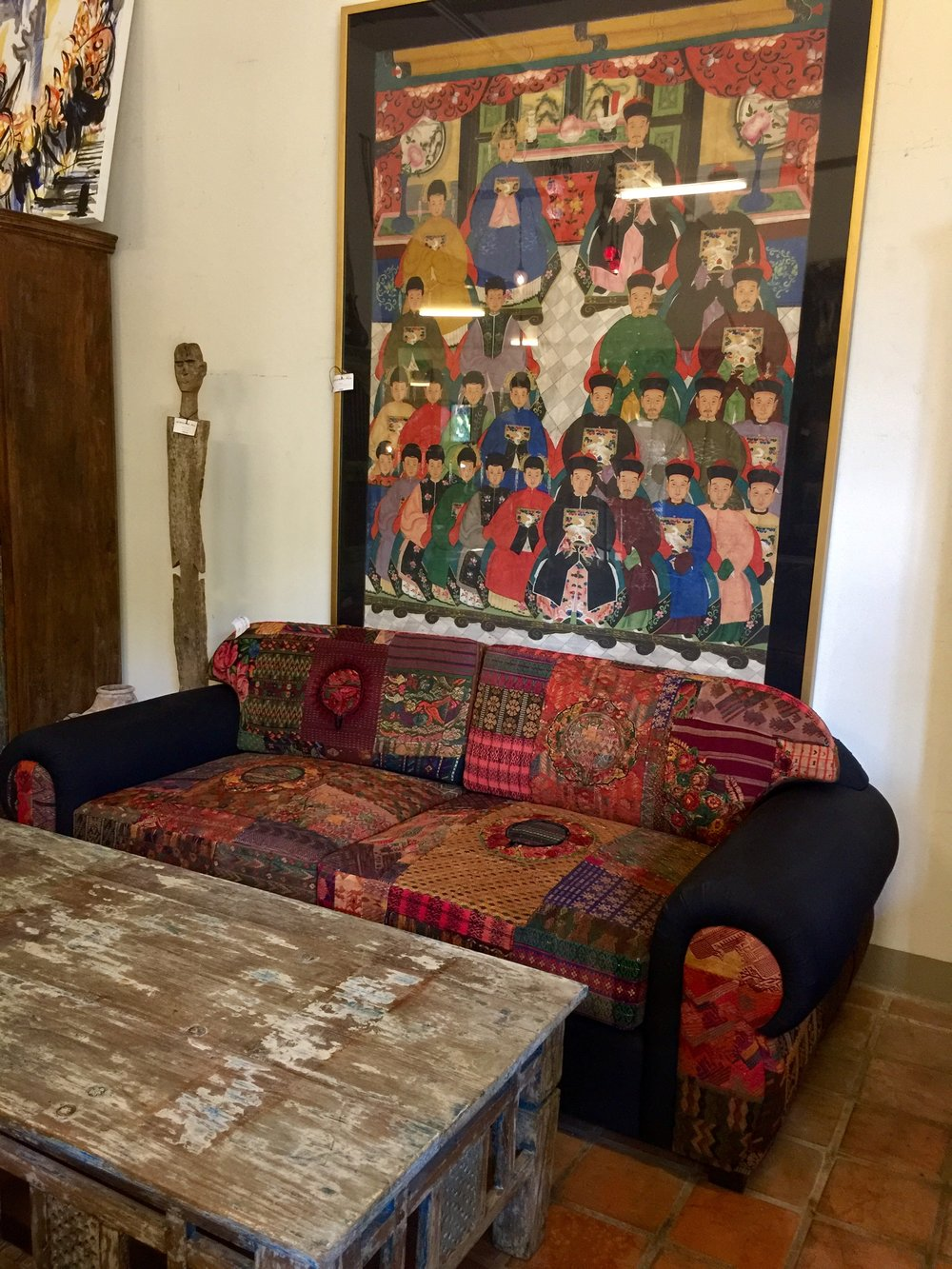 Guatemalan Blanket Sofa