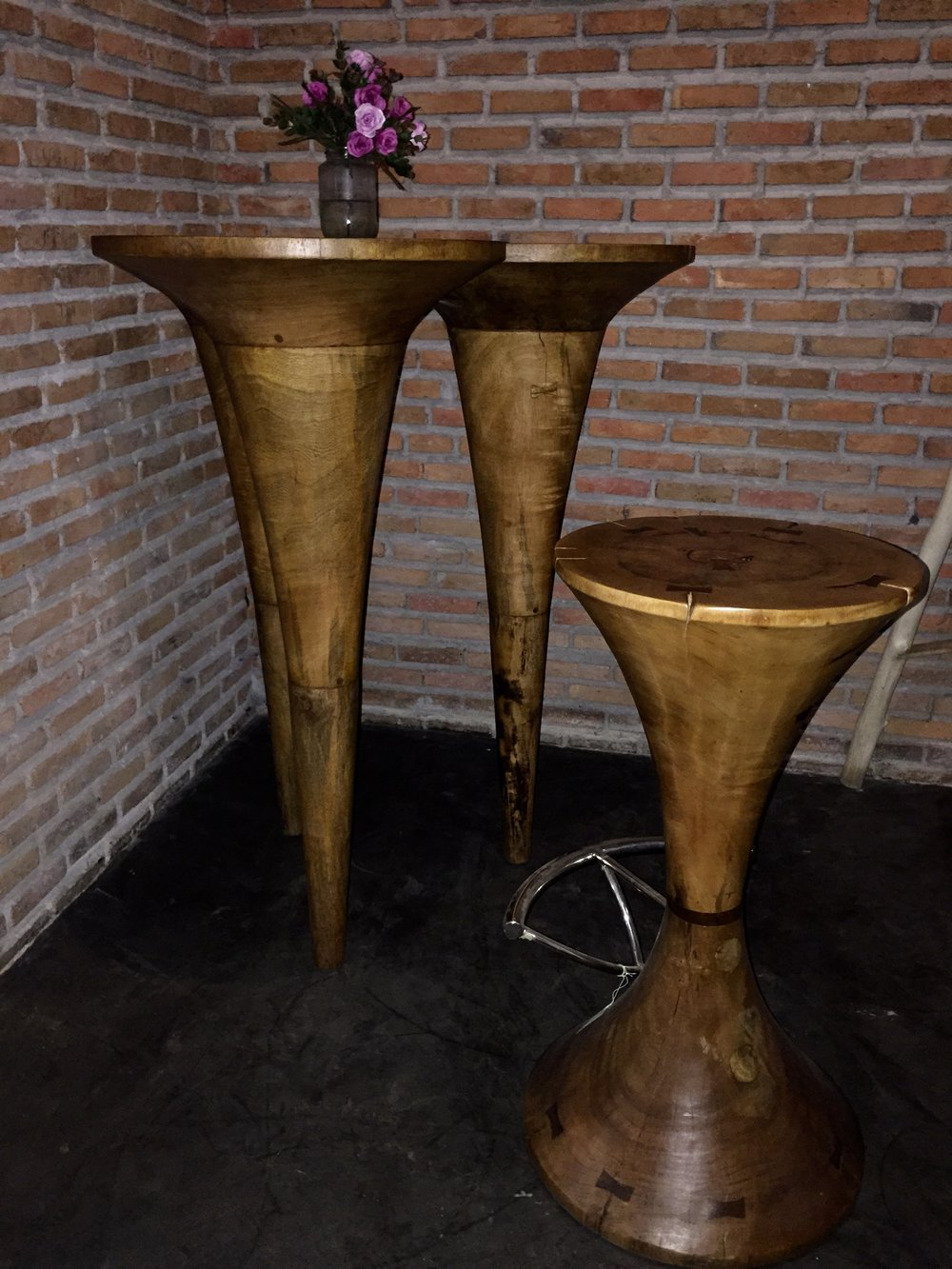 Tri Cone Bar Table and Bar Stool