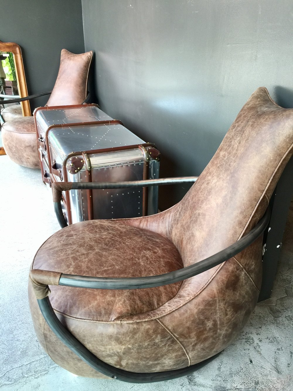 Thai Leather Occasional Chair