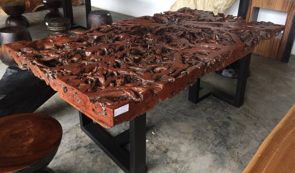 Lychee Root Lacquered Table