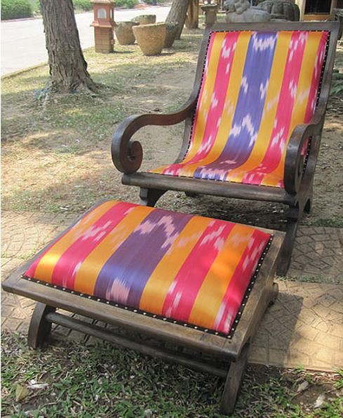 Afghan Suzeini Lazy Chair