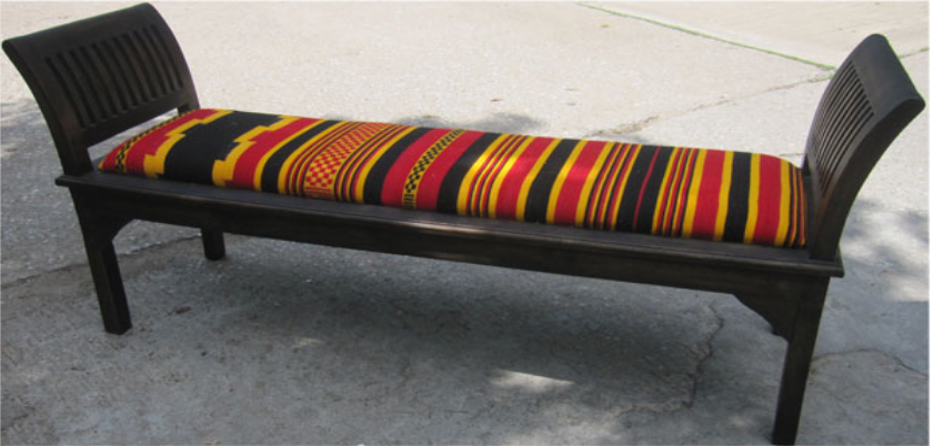 Rest Bench with Ethiopian Cotton