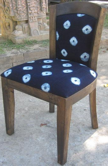 Lily Chair with Dogon Indigo Cloth