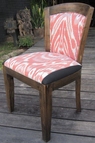 Lily Chair with Uzbek Ikat