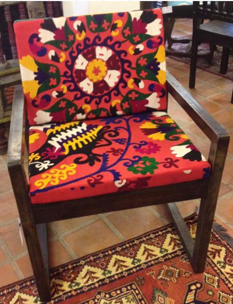 Chair with Uzbek Suzeini