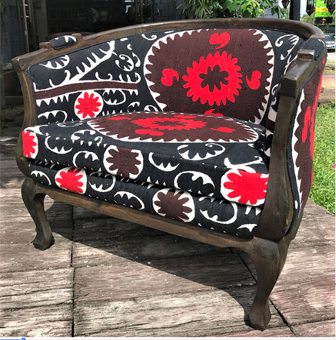 Louis Chair with Sabra Cloth