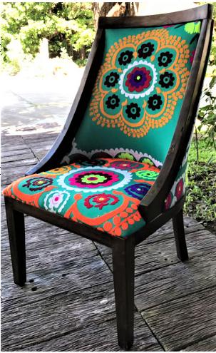 Annabel Chair with Uzbek Suzeini