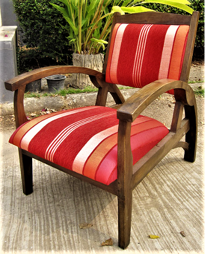 Titanic Chair Upholstered with Sabra Cloth