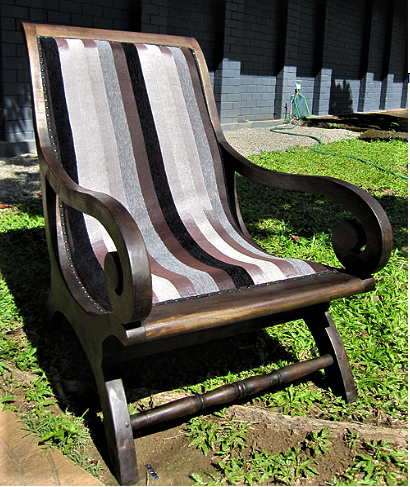 Lazy Chair Upholstered with Moroccan Sabra Cloth