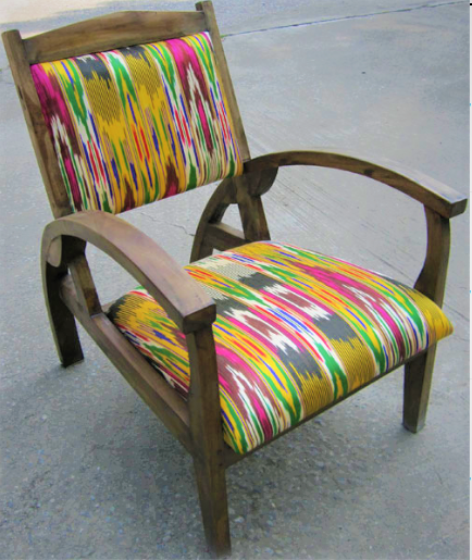 Titanic Chair with Afghan Suzeini