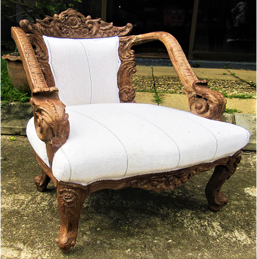 Chair with Moroccan Batania Cloth