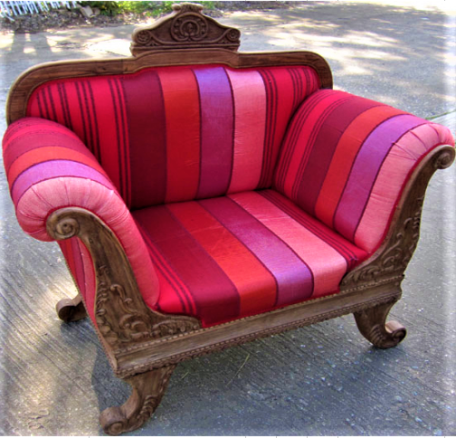 Chair with Moroccan Sabra Cloth