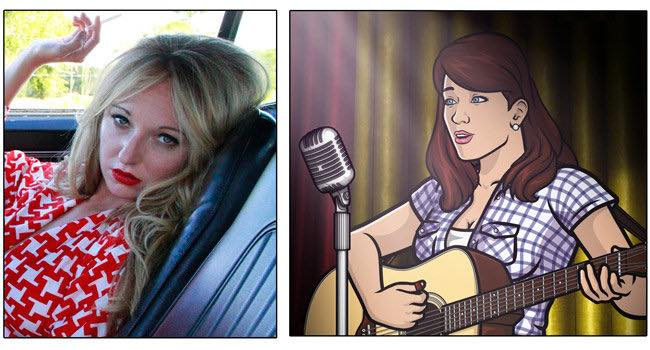"Jesse Lynn Martens of JunoSmile is the singing voice of Charlene from ""Archer"" (how cool is that?)"