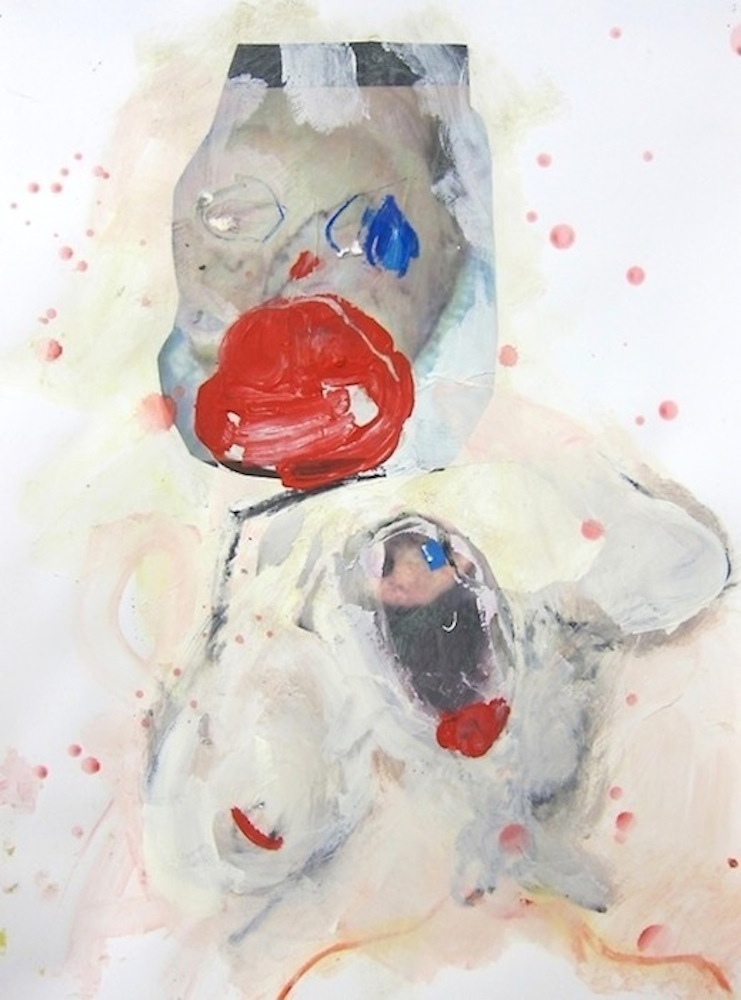 Lips, 2014, acrylic, collage on paper (private collection)