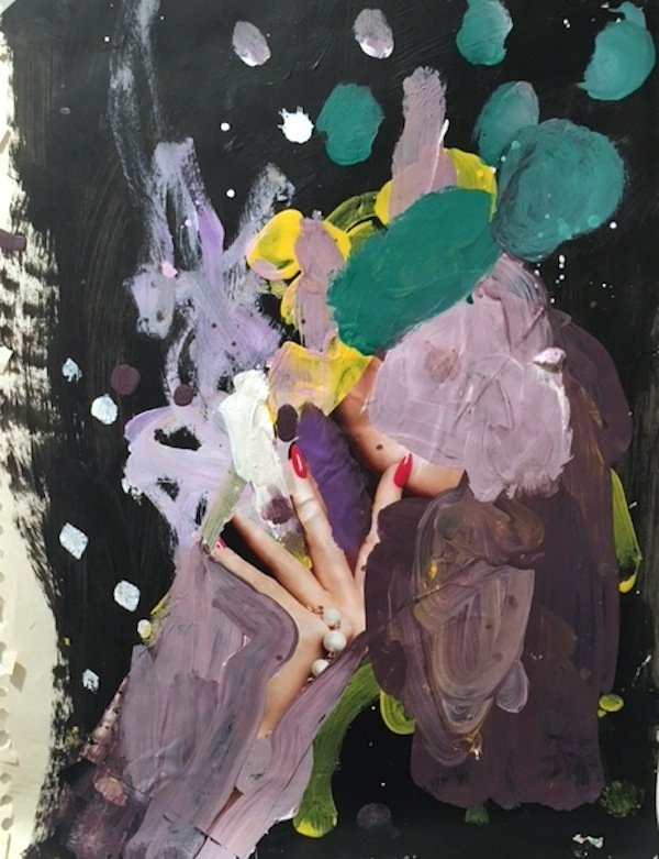 Untitled, acrylic, collage on paper (Permanent Collection, Foundation Center, NYC)