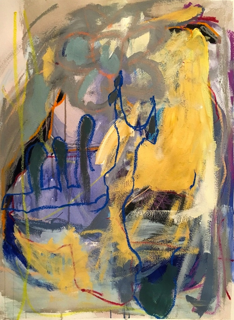 Memory, 2016, acrylic, oil pastel on paper (Permanent Collection, Foundation Center, NYC)