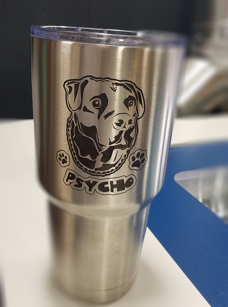 Engraved Tumbler on Stainless steel