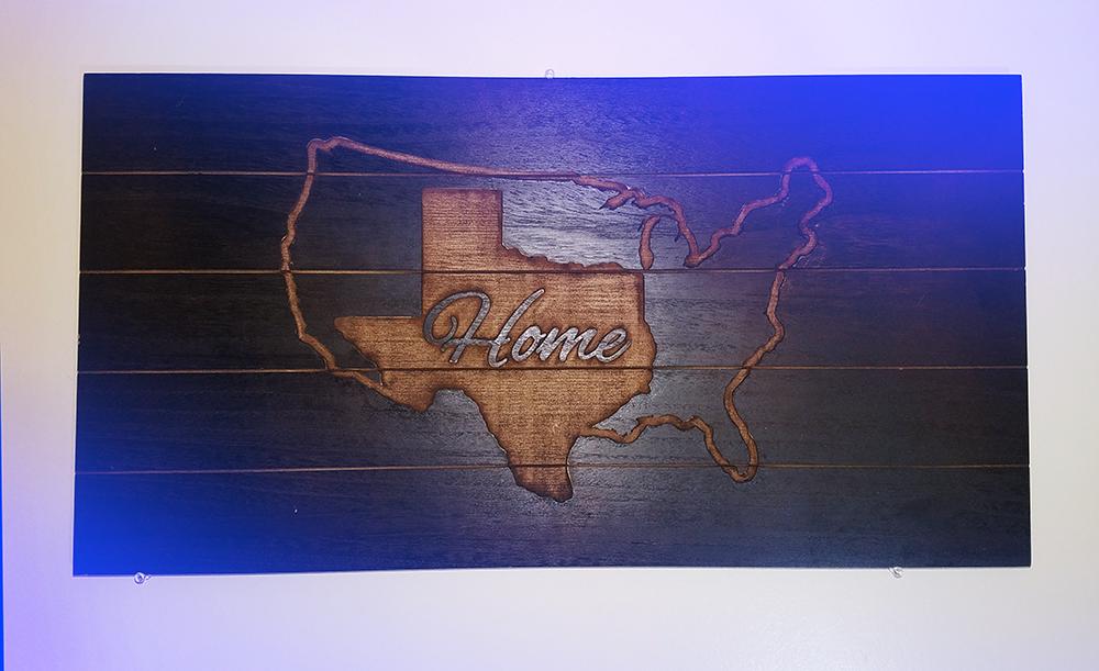 engraved wood: home decor