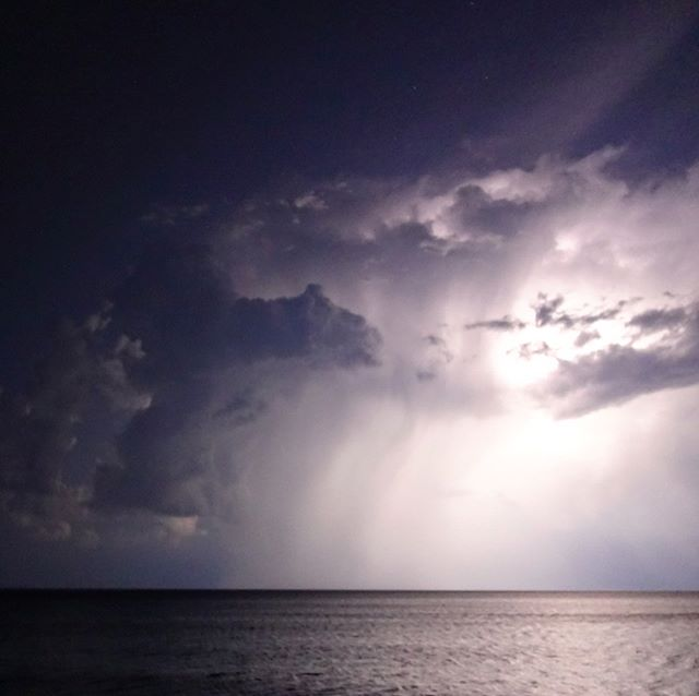 Storm over Lake Superior last night. #lightening #stormclouds #nofilter #awestruck #powerful #sky #uranussquaremars