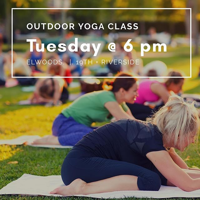 Looks like the weather is going to be fantastic for our yoga class by the river! Come see us tonight 6 pm for an all levels Vinyasa yoga class.  Bring a mat and some friends. $8 for 1 class or $25 for 5 classes. #yogaintheparktulsa #outdooryogatulsa #iamyogatulsa #918yoga