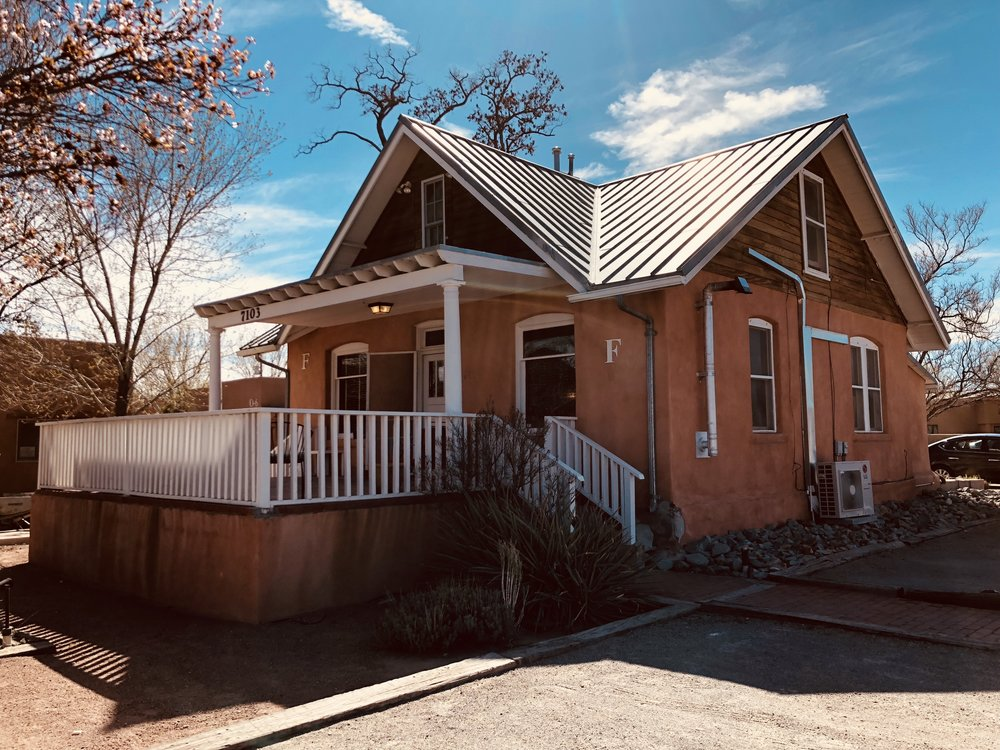 Our Practice - Nestled in the charming north valley of Albuquerque, we provide services in this quaint New Mexico style building. We conduct therapy in playrooms and outdoors with back-to-basics toys and imagination.
