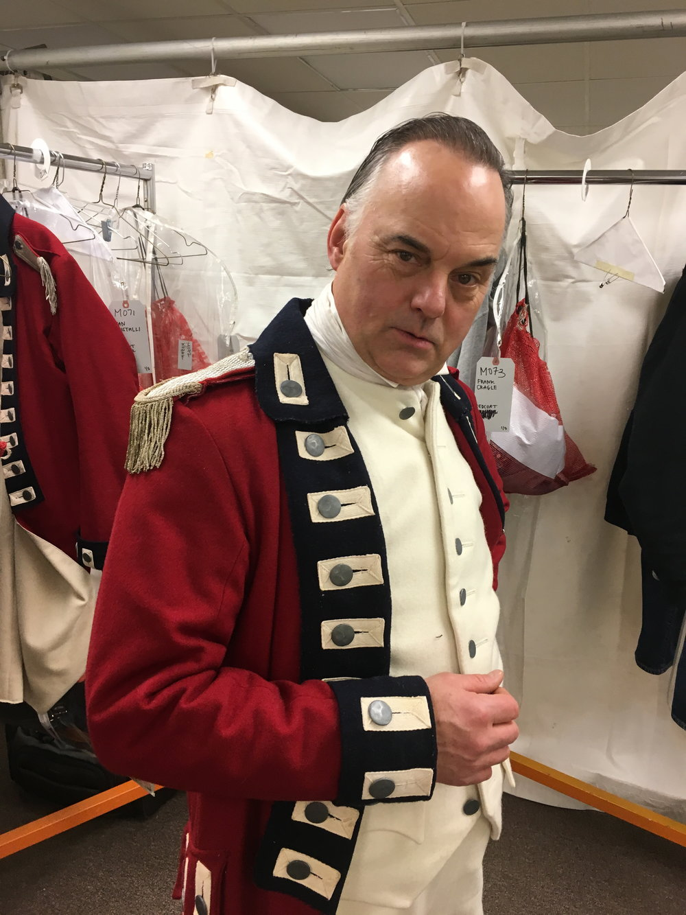 Before going on set for AMC's  Turn: Washington's Spies