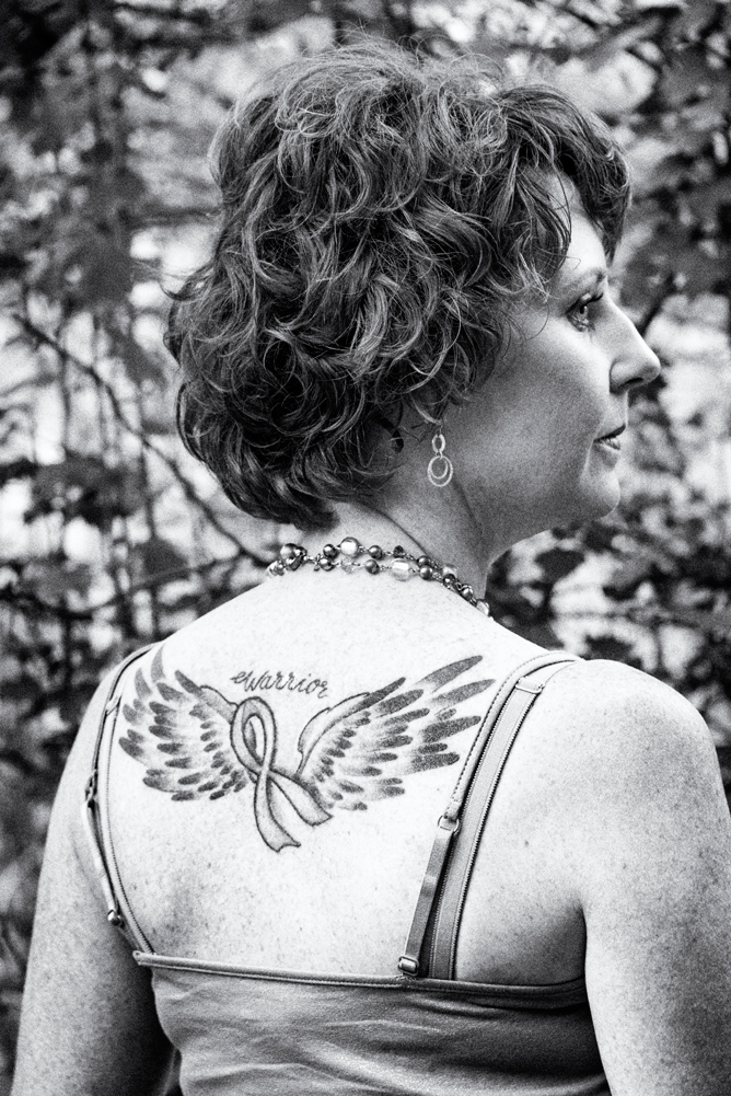 Trina Klier-Murri's tattoo exemplifies the beauty and strength of those who battle breast cancer.  CHAD ESTES — Special to the Idaho Statesman