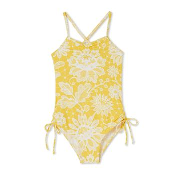 83b04bd132 Stella Cove - Yellow Lace Print Swimsuit