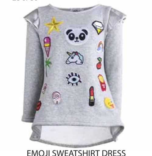 980f82cdf Lola and the Boys Emoji sweatshirt dress