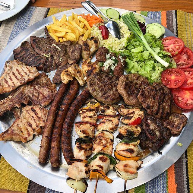 A true Bosnian dinner.