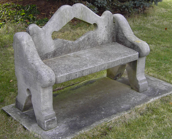 Antique Limestone Bench