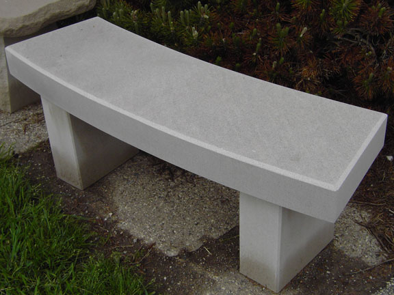 Indiana Limestone Radius Bench