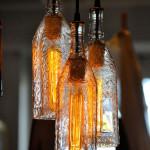 Bottle pendant lamps