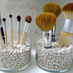 Make up brush storage